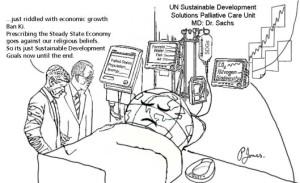 Sustainable Development Goals cartoon