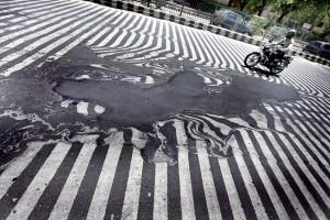Melting pavement