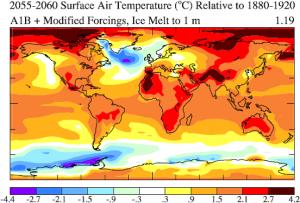 surface air temperature change Hansen